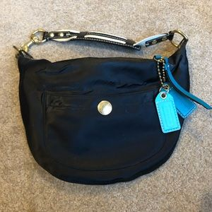 Coach Black and Teal Purse